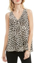 Vince Camuto Women's Leopard Song Drape Front Top