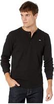 Salty Crew Long Shoreman Long Sleeve Knit (Black) Men's Clothing