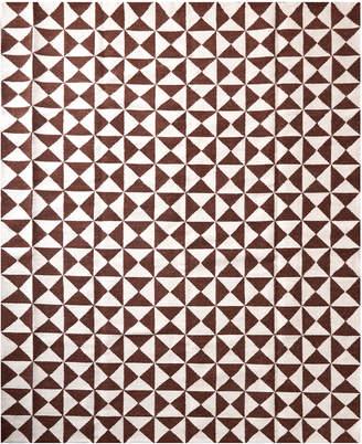 Jonathan Adler Brown Oslo Reversible Peruvian Flat Weave Rug