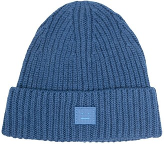 Acne Studios Face-patch knitted beanie