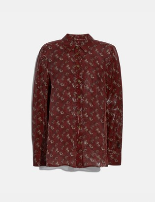 Coach Lunar New Year Horse And Carriage Print Shirt