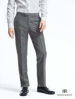 Banana Republic Standard Monogram Gray Wool Blend Suit Trouser