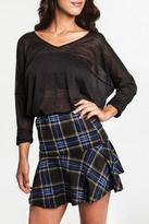 KORI AMERICA Plaid Mini Skirt