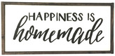 Simply Cedar Happiness Is Homemade Handcrafted Wooden Sign