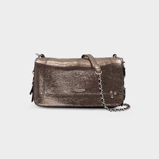 Jerome Dreyfuss Bobi Handbag In Silver Goat Leather