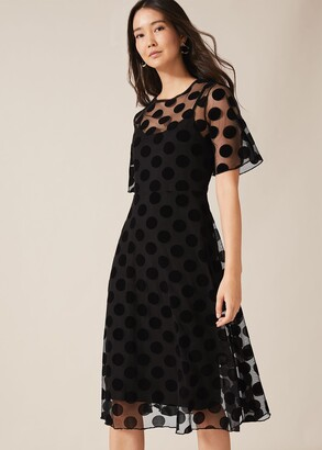 Phase Eight Georgette Spot Mesh Dress
