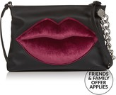 KENDALL + KYLIE Corey Lips Cross-Body Bag- Black/Red