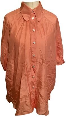 Dolce & Gabbana Orange Silk Tops