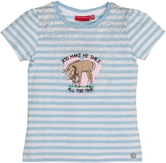 Salt&Pepper Salt and Pepper Girl's T-Shirt Horses Stripes