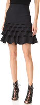 Dion Lee Slash Ruffle Miniskirt