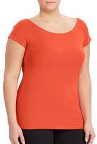 Lauren Ralph Lauren Plus Cotton Off-the-Shoulder T-Shirt