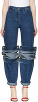 Y/Project Navy Cufflink Jeans