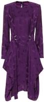 Stella McCartney Silk-blend jacquard midi dress