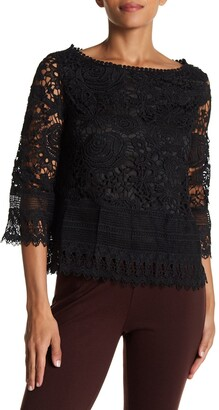 Vertigo Boatneck Crochet Lace Top
