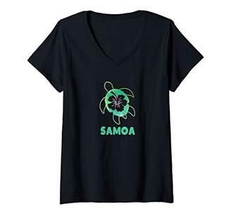 Womens Samoa V-Neck T-Shirt