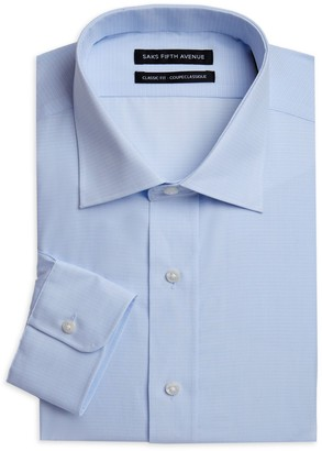 Saks Fifth Avenue Pinstripe Long-Sleeve Button-Front Classic-Fit Shirt