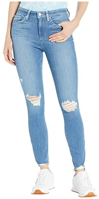 Paige Hoxton Ankle Jeans in Glacial Destruction w/ Eroded Hem (Glacial Destruction w/ Eroded Hem) Women's Jeans