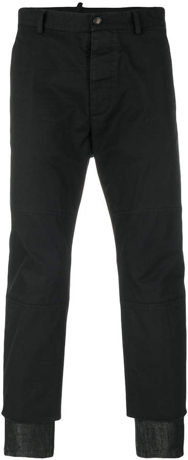 DSQUARED2 denim detail trousers