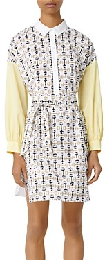 Maje Rocsi Printed Shirt Dress