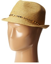 Tommy Bahama Paper Braid Fedora with Sequins Trim Fedora Hats
