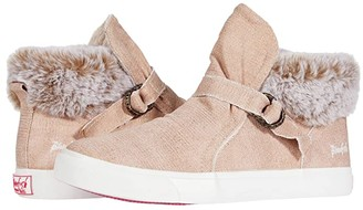 Blowfish Kids Mint-K (Little Kid/Big Kid) (Rose Gold Brushed Metallic Canvas/Faux Fur) Girl's Shoes