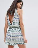 Traffic People Swirl Print Dress With Tie Back