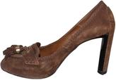 Celine Brown Suede Heels