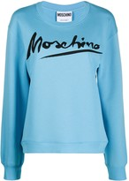 Moschino logo script sweatshirt