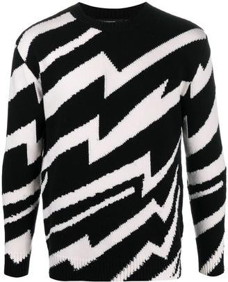Stella McCartney Zigzag Intarsia-Knit Jumper