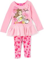 Children's Apparel Network Disney Princess Belle Peplum Top & Floral Leggings - Toddler