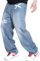 QBO Men's Hip Hop Embroidery Baggy Demin Pants Relaxed Jeans Trousers-34