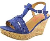 Jellypop Essie Women Open Toe Canvas Wedge Sandal.