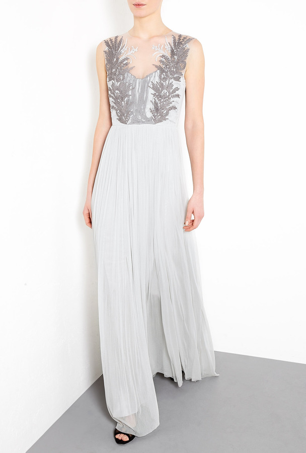 Catherine Deane Orenda Layered Embroidery With Silk Tulle