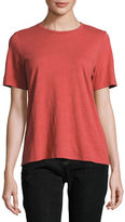 Eileen Fisher Short-Sleeve Slubby Organic Jersey Top