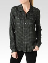 Paige Mya Shirt - Black/Army/Grey Hartford Plaid