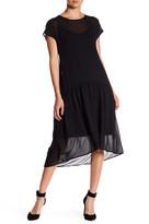 Anne Klein Drop Waist Shirt Dress