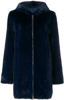 Liska zipped fur coat