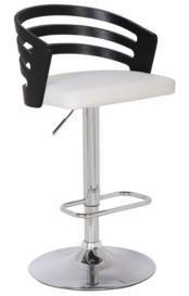 AC Pacific Modern Wood Back Adjustable Swivel Bar Stool with Cushion