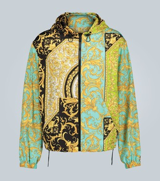 Versace Barocco printed hooded jacket