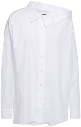 Each X Other Cutout Cotton-poplin Shirt