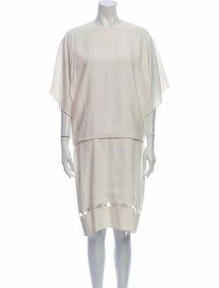 Chloé Crew Neck Knee-Length Dress White