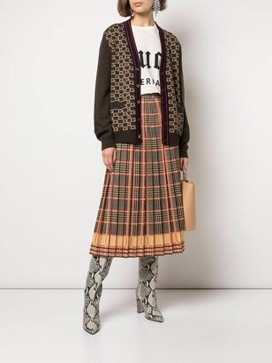 Gucci High-waisted Check Print Skirt