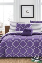 Lacoste Curling Comforter Set - Purple