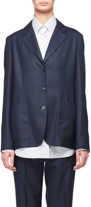 The Row Defi 3-Button Loose Wool Jacket