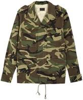 Saint Laurent Love Appliquéd Camouflage Jacket