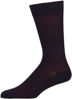 Marcoliani Milano Men's Regimental Pin-Dot Socks