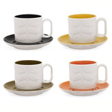 Orla Kiely Raised Stem Espresso Cup - Assorted set of 4