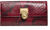 MICHAEL Michael Kors Large Hamilton Snake-Print Flap Wallet