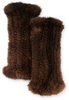 La Fiorentina Fingerless Mink Fur Gloves, Brown