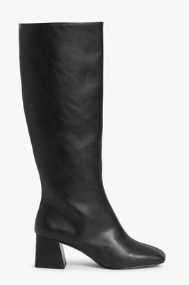Monki Knee-high faux leather boots